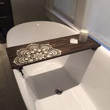 Bath Caddy | Flower Mandala | Mandala Caddy | CUSTOMIZE BATH Caddy | Bath  Tub Tray | Tub Caddy | Bath Tray - Housewarming Gift - Home Decor