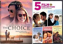 Choice Romance Movies Nicholas Sparks The Notebook / A walk to Remember /  Nights in Rodanthe / Message in a Bottle / Lucky One & The Choice DVD Set  Love Bundle Collection
