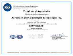 aerospace quality assurance act iso 9001 2008