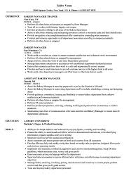 baker cv bakery manager resume example templates deli sample cv examples