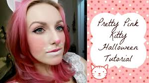 pretty pink and white kitty makeup tutorial