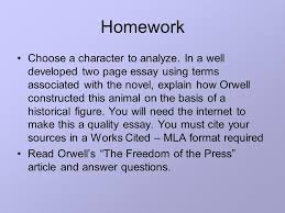 animal farm parody allegory rhetoric ppt 9 homework