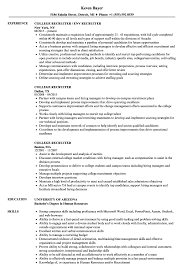 Recruiter Resume Sample College Recruiter Resume Samples Velvet Jobs 2