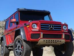 The voluminous tyres, the huge distance to the ground. Most Insane 4x4 Vehicle Test The Mercedes Benz G550 4x4 Squared