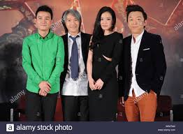 Cast members, from left, Chinese actor Wen Zhang, Hong Kong director  Stephen Chow, Tianwanese actress Shu Qi and Chinese actor Huang Bo pose for  a gro Stock Photo - Alamy