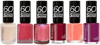 Rimmel 60 Seconds Super Shine Nail Varnish Polish 8ml Choose