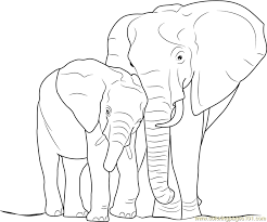 Small Picture Elephant with Baby Coloring Page Free Elephant Coloring Pages
