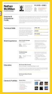 Bold Resume Template Bold CV Resume Template Minimal Smart PORTFOLIOS 2
