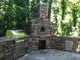 outdoor fireplace kitchen design
