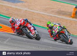 ANDREA DOVIZIOSO (4) of Italy and Ducati Team and ALEIX ESPARGARO (41) of  Spain and Aprilia