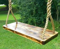 wooden tree swing seat charred 4 hole how to make a wooden tree swing seat