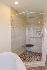 ideas shower systems pinterest: shower ideas large custom tile shower with large tile walls with small glass tiel accent