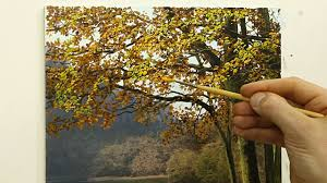 49 how to paint an autumn tree oil painting tutorial you