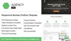 Business Portfolio Template Responsive Business Portfolio Template Built Using Twitter
