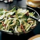 celery salad with walnuts  dates and pecorino