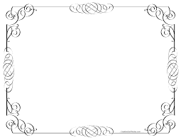 Border Black And White Black And White Border Free Customizable Instant Download Bksamara