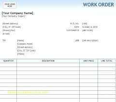 Maintenance Work Order Template Great Job Form Of For