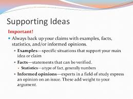 writing the argument essay 7 supporting ideas important