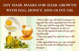 diy hair masks for hair growth with egg honey and olive oil