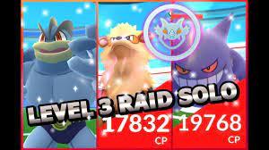 Pokemon GO Level 3 Gym Raids SOLO Arcanine Machamp & Gengar - YouTube
