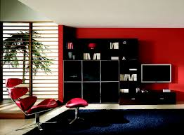 red wall paint black bed: inspiring picture of red black and white room decoration ideas cozy red black and white
