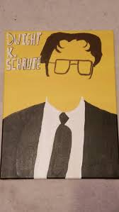 office canvas art. Dwight Schrute The Office Canvas Painting Art A