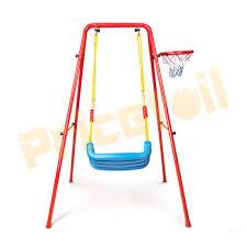2 in 1 kids indoor outdoor swing basketball set backyard children fun set gift