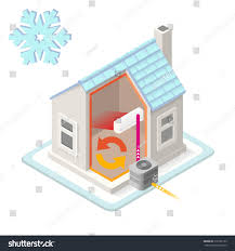 home air conditioning system diagram. home heating system chain air conditioning unit cold house heat pump infographic diagram system. j
