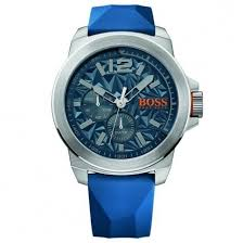 boss orange watches mens blue new york silicone gay times £149 00 boss orange watches mens blue new york silicone strap watch