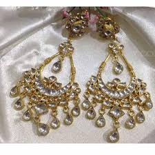 chandelier earrings fashion gold plated jewellery designer