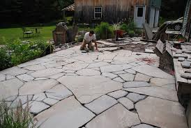 blue stone patio work
