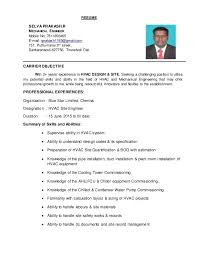 Engineer Resume Extraordinary Hvac Resume Resume Selva Prakash R Mechanical Engineer Mobile No E