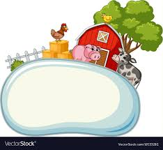 zoo animals clipart border. Unique Border Clipart 12 Border Template With Farm Animals In Background Vector  18133282 Zoo On B