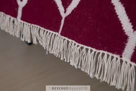 sweden 59 wool kilim rug rani pink 160x230 modern