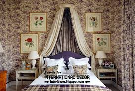 classic english style in the interior english bedroom interiors with purple wallpaper patterns