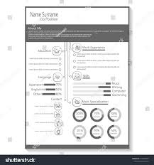 Business Cv Resume Template Infographic Vector Stock Vector Royalty