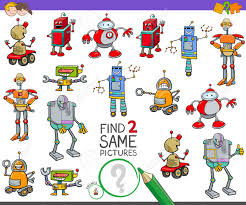Free Educational Cartoons Cartoon Illustration Of Finding Two Same Pictures Educational