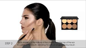 how to cream contour highlight um sleek makeup