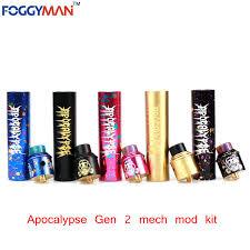 apocalypse gen 2 mech mod with gold deck pin fit 18650 battery mechanical mod vaporizer