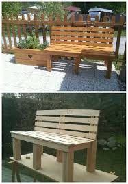 pallet outdoor bench diy. #Garden, #PalletBench, #RecyclingWoodPallets Outdoor Bench Made Entirely From Repurposed Wooden Pallets. 100% Legno Recuperato Da Pallet. Pallet Diy