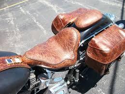 custom leather seat saddle bags