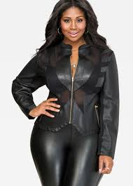 leather jackets plus size plus size mesh faux leather jacket 027 gsz368024