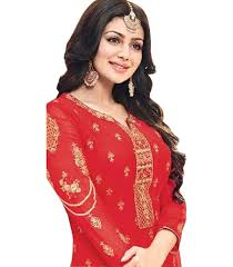 Bollywood Designer Suits Online Shopping Zofey Bollywood Designer Sarees Red And Beige Georgette