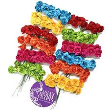 Buy Paper Flower Asian Hobby Crafts Artificial Paper Flowers Multicolour 1 5cm 144 Pieces