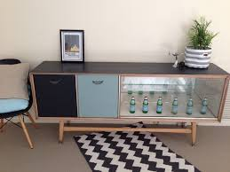 Living Room Sideboards And Cabinets Upcycled Furniture Sideboard Buffet Retro Modern Glass Display