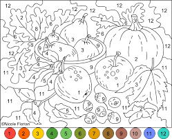 Small Picture Nicoles Free Coloring Pages COLOR BY NUMBER AUTUMN COLORS