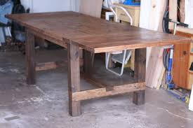 farmhouse table with leaves. Expandable Farmhouse Table 64x38, To 102x38 With Two Breadboard Leaves E