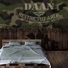 Behang Leger Camouflage Met Eigen Naam In 2019 Kinderbehang