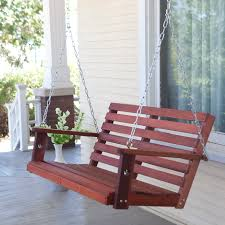 Belham Living Richmond Straight Back Porch Swing with Optional