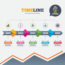 Timeline Infographic With Arrows Stock Vector Colourbox